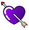 heart with arrow insede vector image vector image