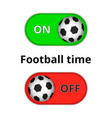 icons with soccer balls vector image