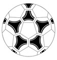 isolated soccer ball icon vector image vector image