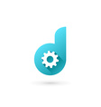 Letter D technology logo icon design template vector image vector image