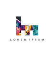 letter initial logotype logo abstract colorful vector image vector image