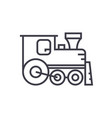 locomotive line icon sign on vector image