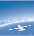 los angeles skyline flight destination vector image