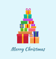 Merry Christmas card with Gifts vector image vector image