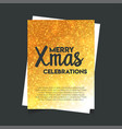 merry xmas celebration glitter background vector image vector image