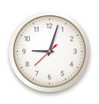modern quartz wall clock on white background vector image vector image