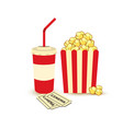 movie poster template popcorn soda takeaway vector image vector image