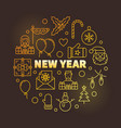 new year line yellow bright vector image
