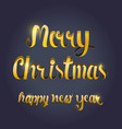 new year typography 2 vector image