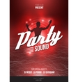 Night Disco Party Poster Background Template - vector image