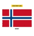 Norwegian grunge flag with little scratches on vector image vector image