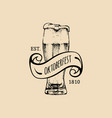 oktoberfest label beer festival flyer vector image vector image