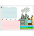 Paper design with park and factories vector image vector image