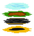 puddles of different types set vector image