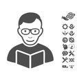 Reader Icon With Tools Bonus vector image vector image