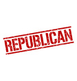 republican stamp vector image vector image