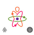 science for kids logo colorful atom structure vector image