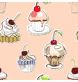 seamless background with cake vector image vector image