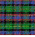 seamless pattern Scottish tartan Black Watch vector image