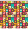 Seamless patterns with colorful squares vector image vector image