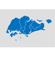 singapore map - high detailed blue map with vector image vector image