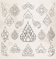 Sketch Thai arts pattern and design elements vector image vector image