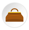 small bag icon circle vector image vector image