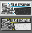 tickets for film festival vector image vector image