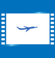 travel the world plane icon vector image
