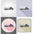 truck flat icons 07 vector image vector image