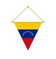 venezuelan triangle flag hanging vector image