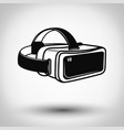 virtual reality glasses icon isolated on white vector image