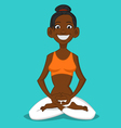 woman in the Lotus position vector image vector image