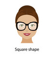 woman square face shape vector image
