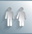male female wc icon vector image