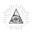 All seeing eye symbol vector image