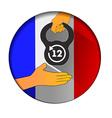 12 hour working week in France vector image vector image