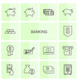 14 banking icons vector image vector image