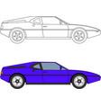 80s retro sport car vector image vector image