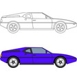 80s retro sport car vector image