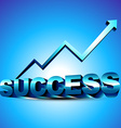 abstract 3d success design vector image vector image