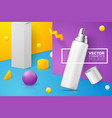 abstract scene with mousse bottle and box vector image
