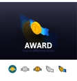 Award icon in different style vector image vector image
