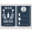 Beer brochure flyer template vector image vector image