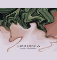beige green liquid flow abstract pastel fluid vector image vector image
