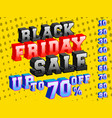 black friday sale banner colorful 3d design vector image vector image