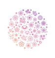 Blossom flowers thin line icons