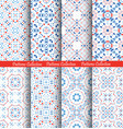 blue flower pattern backgrounds vector image vector image