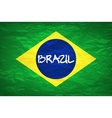 Brazil Flag An old grunge flag of Brazil state vector image vector image