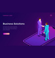 business solution and agreement isometric concept vector image vector image